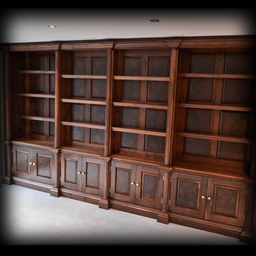 Library Storage and TV Cabinet with media storage: Just installed